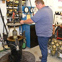 DOT Certified Hydrostatic Cylinder Testing